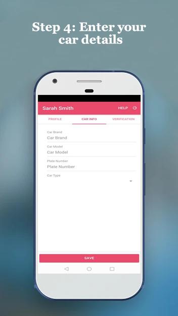 PinkCab Driver app step 4